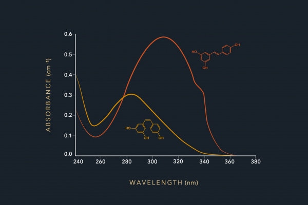 Graphic of absorbance - wavelength